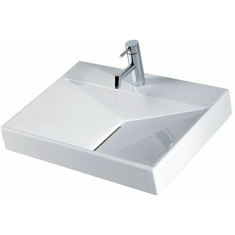 Vasque ANCOZEN 5 rectangulaire en céramique 65cm