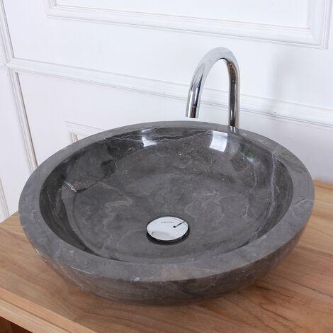 Vasque bol en pierre de marbre - Noir