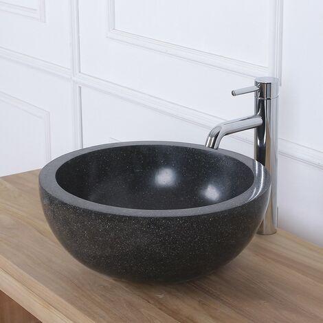Vasque bol en terrazzo - Noir