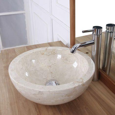 Vasque boule en pierre de marbre