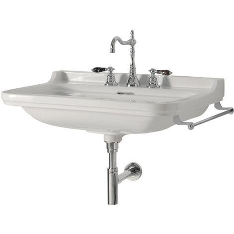 Vasque céramique Waldorf 100 cm monotrou - Ondyna WD10055