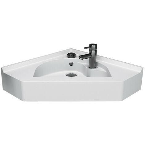 Vasque d'angle suspendue RESIANGLE- 50x50cm