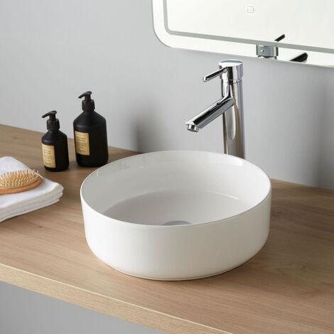 Vasque de salle de bain à poser Andria Diamétre 37 cm blanche