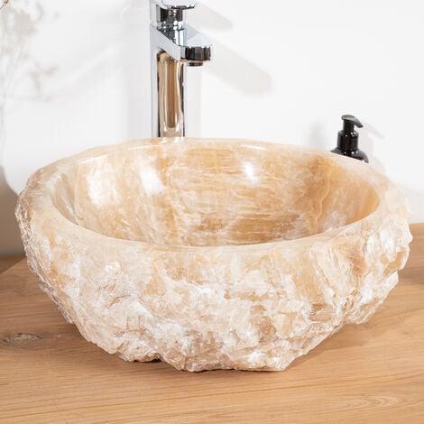 Vasque De Salle De Bain à Poser En Pierre Onyx 40 45 Cm