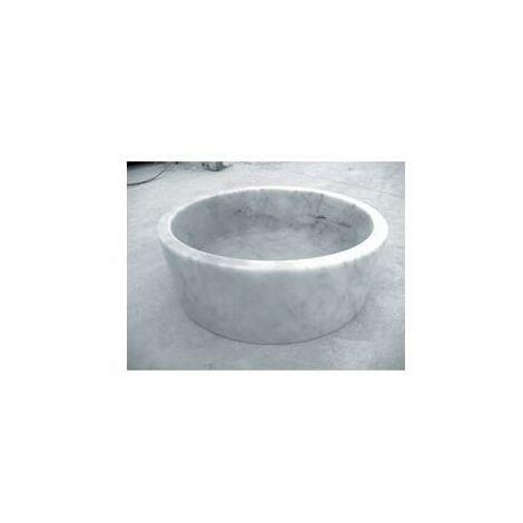 Vasque en pierre cylindrique Blanc Marbre - CRISTINA ONDYNA UR2006