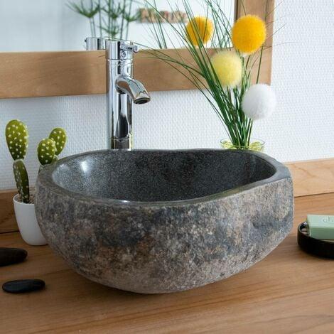 Vasque en pierre de rivière à poser Eden-Roc 40 - Naturel
