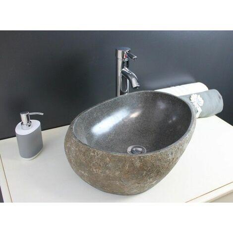 Vasque en pierre de rivière à poser Riva - Pierre naturelle