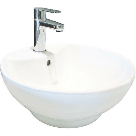 Vasque en porcelaine PORTOFINO diametre 43,5 x H 16,5 cm