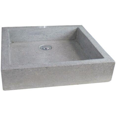 Vasque en terrazzo TIMBRE GRIS CIMENT - Plusieurs dimensions