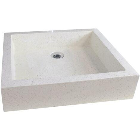 Vasque en terrazzo TIMBRE PIERRE 60X40