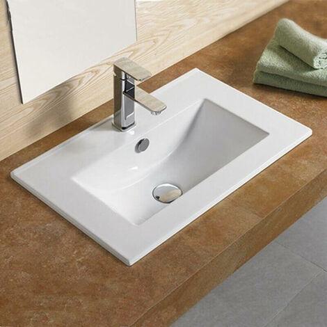 Vasque encastrable céramique - 62x40 cm - Compact