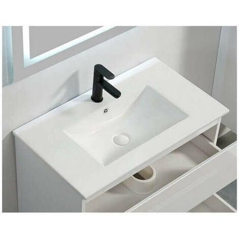 Vasque encastrable céramique blanche - 81x47 cm - City