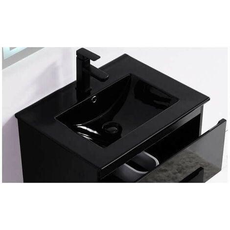 Vasque encastrable céramique noire - 61x47 cm - Dark
