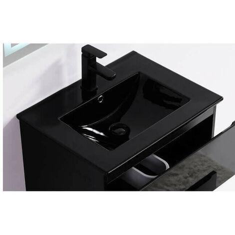 Vasque encastrable céramique noire - 81x47 cm - Dark