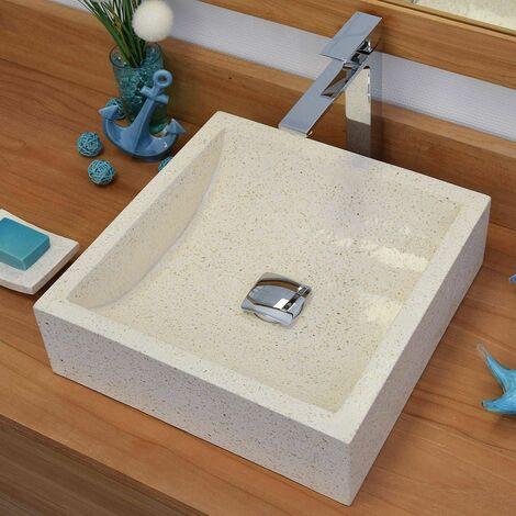 Vasque Halfmoon en terrazzo