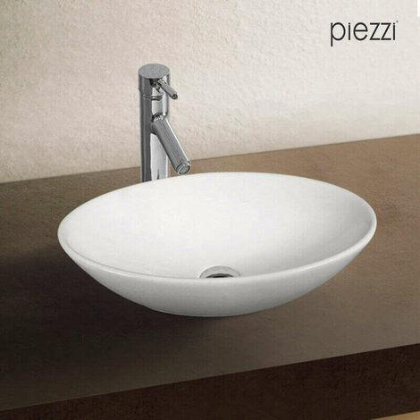 Vasque ovale en céramique blanche 52 cm - Huvéa