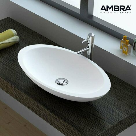 Vasque ovale en Solid surface 60 cm - Fiona