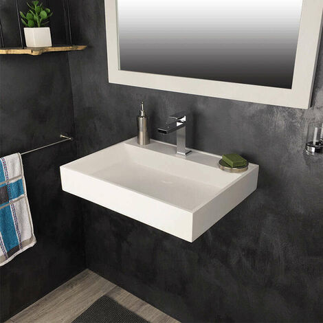 Vasque rectangulaire 60 cm en Solid surface - Novéa