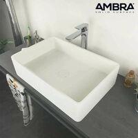 Vasque rectangulaire 60 cm en Solid surface - Opio
