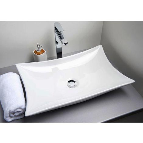 Vasque rectangulaire en céramique Astrid