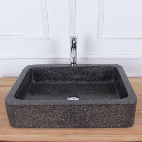 Vasque rectangulaire en terrazzo
