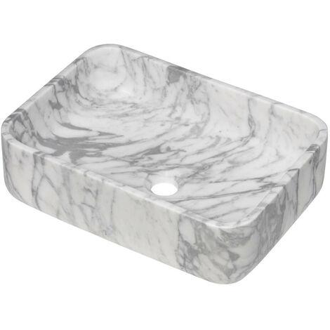 Vasque Rectangulaire Marbre Blanc Adeona 45,5x32,5cm