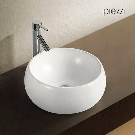 Vasque ronde en céramique blanche - Mood