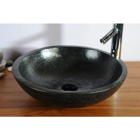 Vasque ronde noire