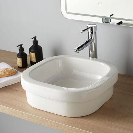 Vasque semi encastrable ou a poser Samoa blanche