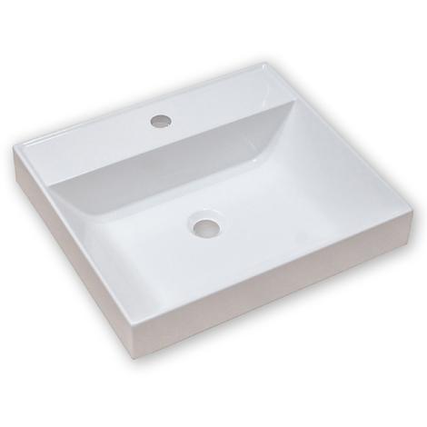 Vasque semi-encastrée ARES 50x45 cm - blanc