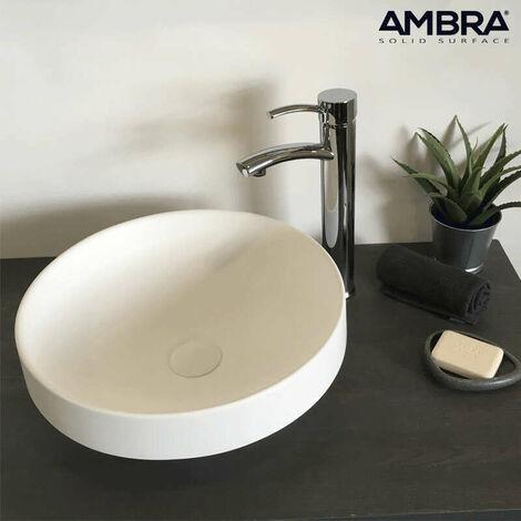 Vasque semi-encastrée en Solid surface 40 cm - Lucia