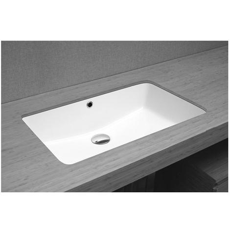 Vasque sous plan rectangle céramique 56 x 37.5 cm
