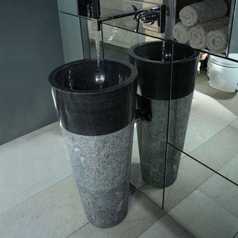 Vasque sur pied Solo en marbre