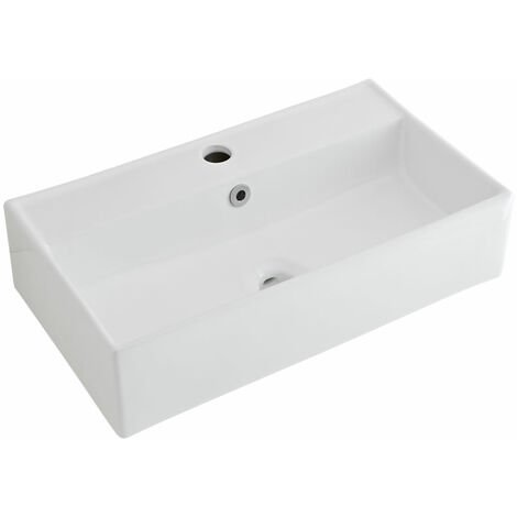 Vasque suspendue 55 x 31cm Halwell