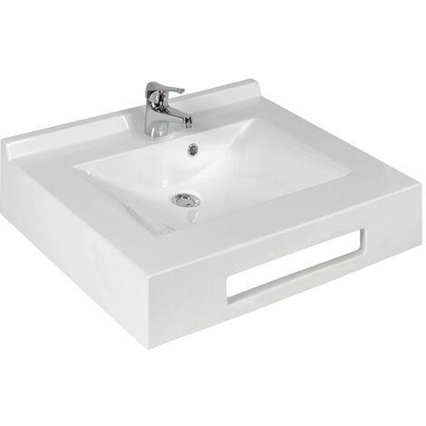 Vasque suspendue carrée EVIDENCE 70 cm - blanc