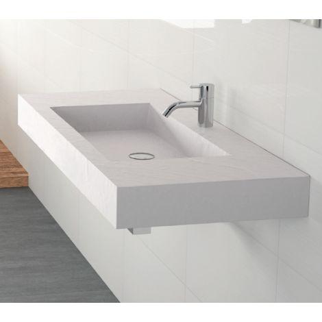 Vasque suspendue rectangulaire surface ardoisée NEW YORK easy