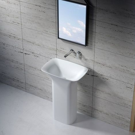 Vasque Totem rectangulaire en solid surface Réf : SDV26