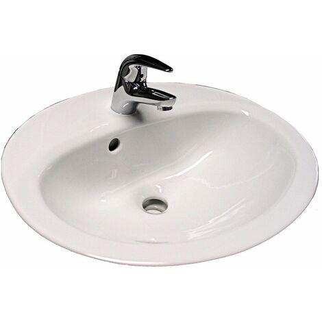 Vasque VOLTA PLUS - Dimensions: 53 x 43,5 cm - Couleur: BLANC