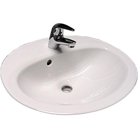 Vasque VOLTA PLUS - Dimensions: 60 x 48 cm - Couleur: BLANC