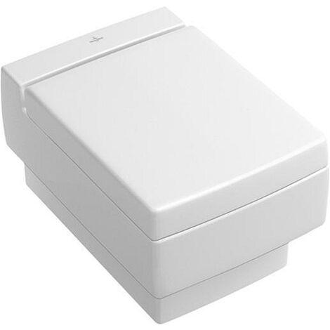 Villeroy & Boch WC Sitz paßt nur zu Memento 9M17S1 mit QuickRelease und softcl. Scharniere verchrom R1 weiß, 9M17S1R1