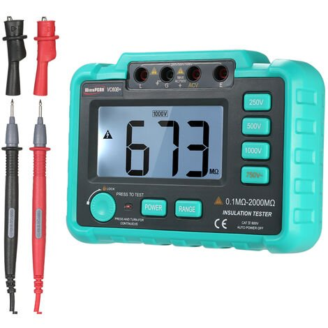VC60B + insulation resistance tester shipped without battery