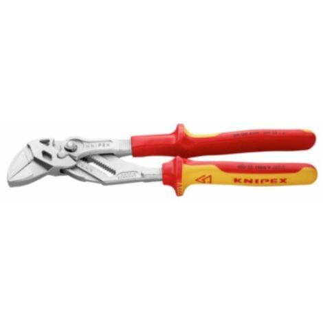 VDE-Zangenschlüssel 250 mm bis SW 52 mm Kopf verchromt mit 2-K Griffen
