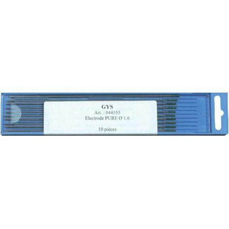 VE10 electrode en tungstene (vert) WIG ALU, 150 mm, D1,6mm pour WIG onduleur de soudage
