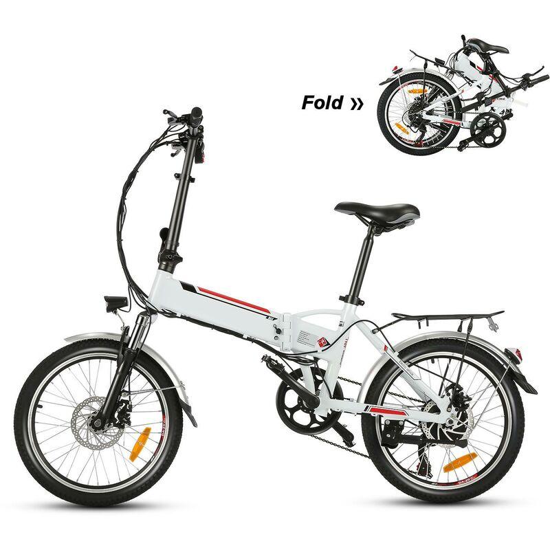 Better Maison - Vélo électriques avec 20' roue Blanc EU Prise 250W - Blanc
