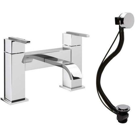 "main image of ""VeeBath Chester Square Spout Bath Filler Shower Mixer & Bath Pop-up Waste"""