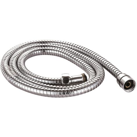 VeeBath Essentials Replacement Flexible S.Steel 1.5M Chrome Shower Hose Pipe