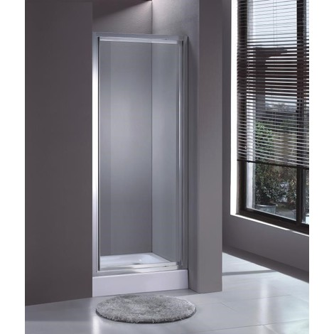 Veebath Fenwick 700mm Wide Pivot Glass Shower Door Enclosure Chrome P 431180 1320813 1