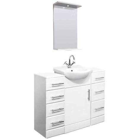 VeeBath Linx 1100mm Vanity Unit Bathroom Furniture Combo Set and Storage Cabinet