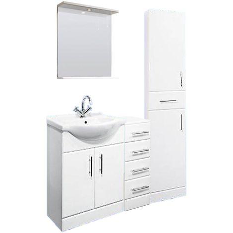 VeeBath Linx 1200mm Vanity Unit Bathroom Furniture Combo Set and Storage Cabinet