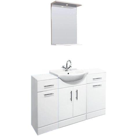 VeeBath Linx 1300mm Vanity Unit Bathroom Furniture Combo Set and Storage Cabinet